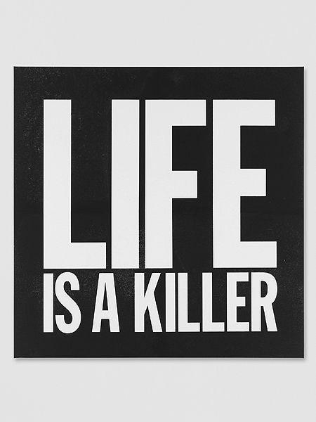 John Giorno, Life is a Killer, 2012.
