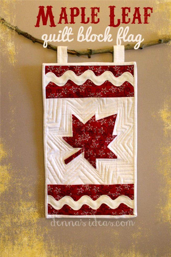 Maple Leaf quilt block flag   Pinterest   Nähen