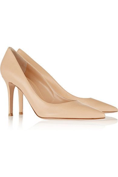 85 Leather Pumps - Beige Gianvito Rossi TAuH1frX