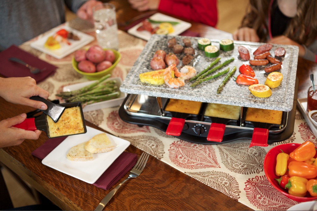 La Table A Raclette Introducing The Velata Raclette Tabletop Grill Create Memorable