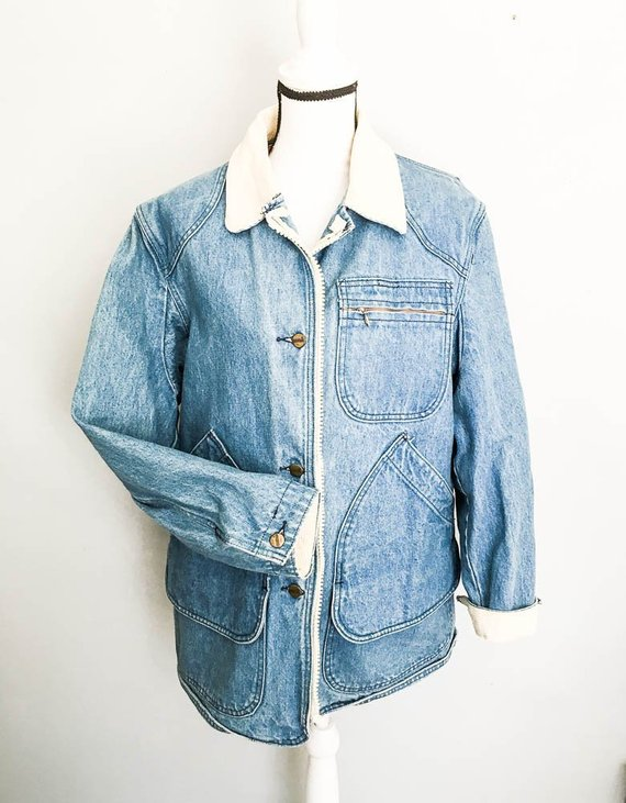 Women's vintage LL Bean denim jacket 90s Jean Barn coat
