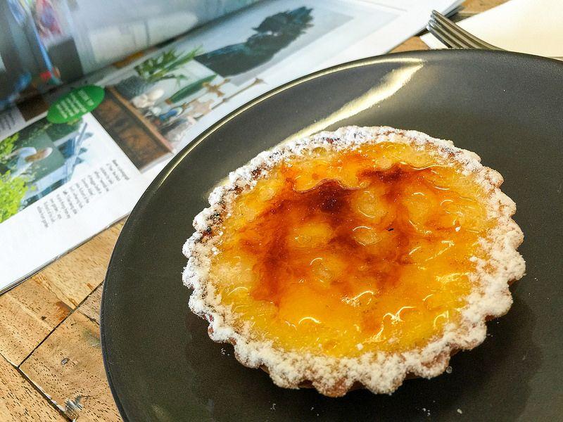 Lemon creme brulee tart at Tivoli Road Bakery in South Yarra