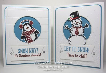Snow Place Spotlight Window Card. Love that igloo background with the penguin! Part of my December 2015 Stamp-of-the-Month class.