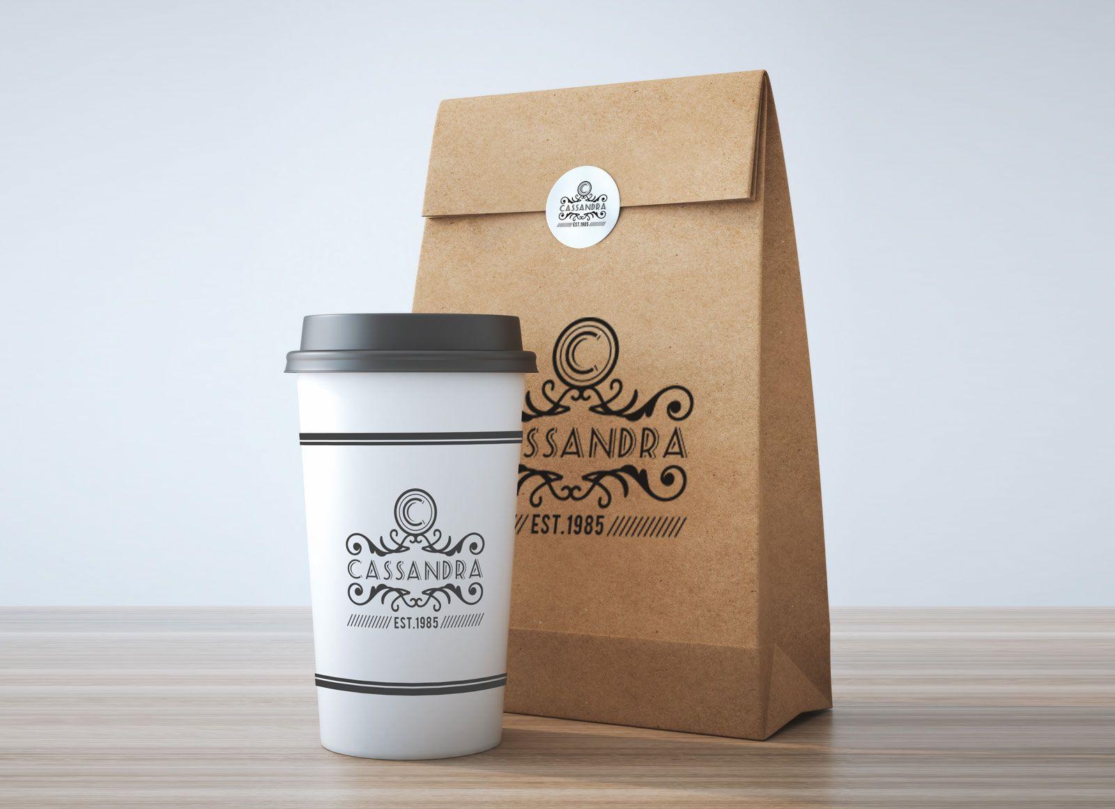 Free Take Away Coffee Cup & Burger Packaging Mockup PSD