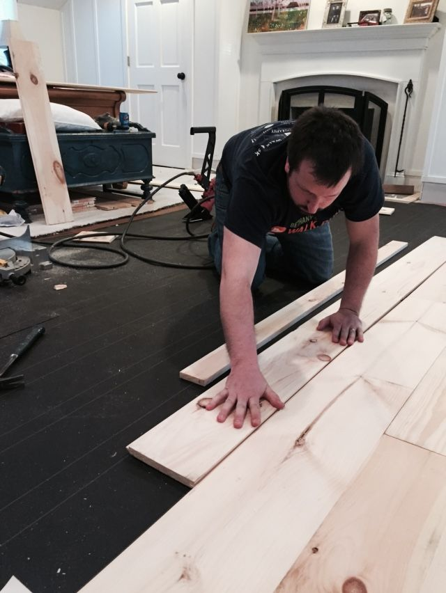 How To Install Refinish Unfinished Wide Pine Floors Review 4 Yrs Later Lehman Lane Diy Wood Floors Diy Flooring Wood Floors Wide Plank