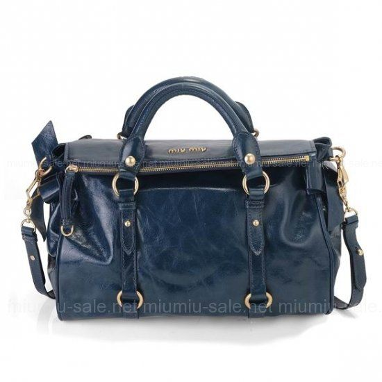 6f415b372256 Miu Miu Dark Blue Bow Embellished Petrol Size  x x Color Blue Internal  zip-fastening and pouch pockets Return Policy Satisfaction Guarantee Notes   The miu ...