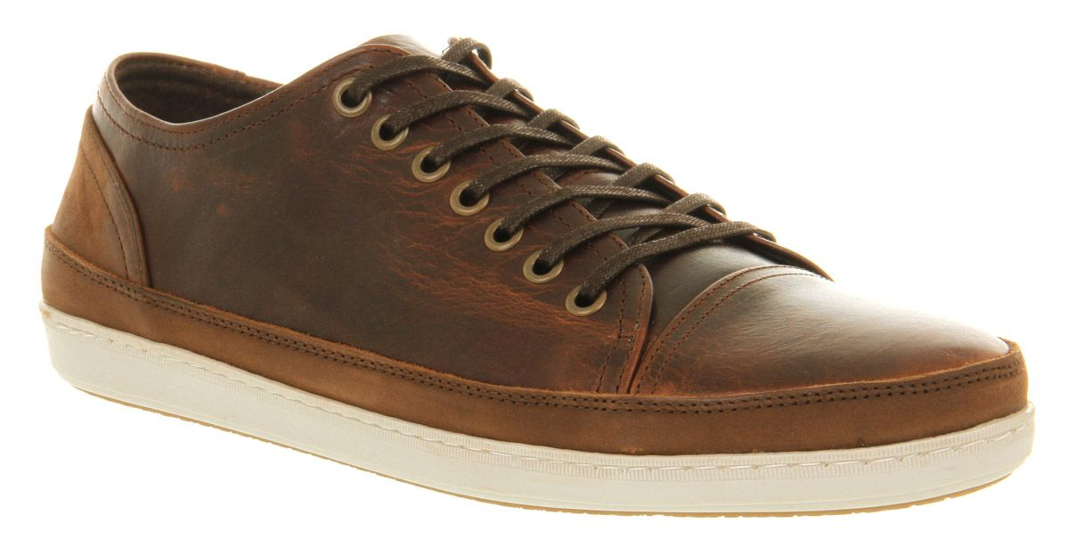 Office Shark Lace Brown Leather - Casual