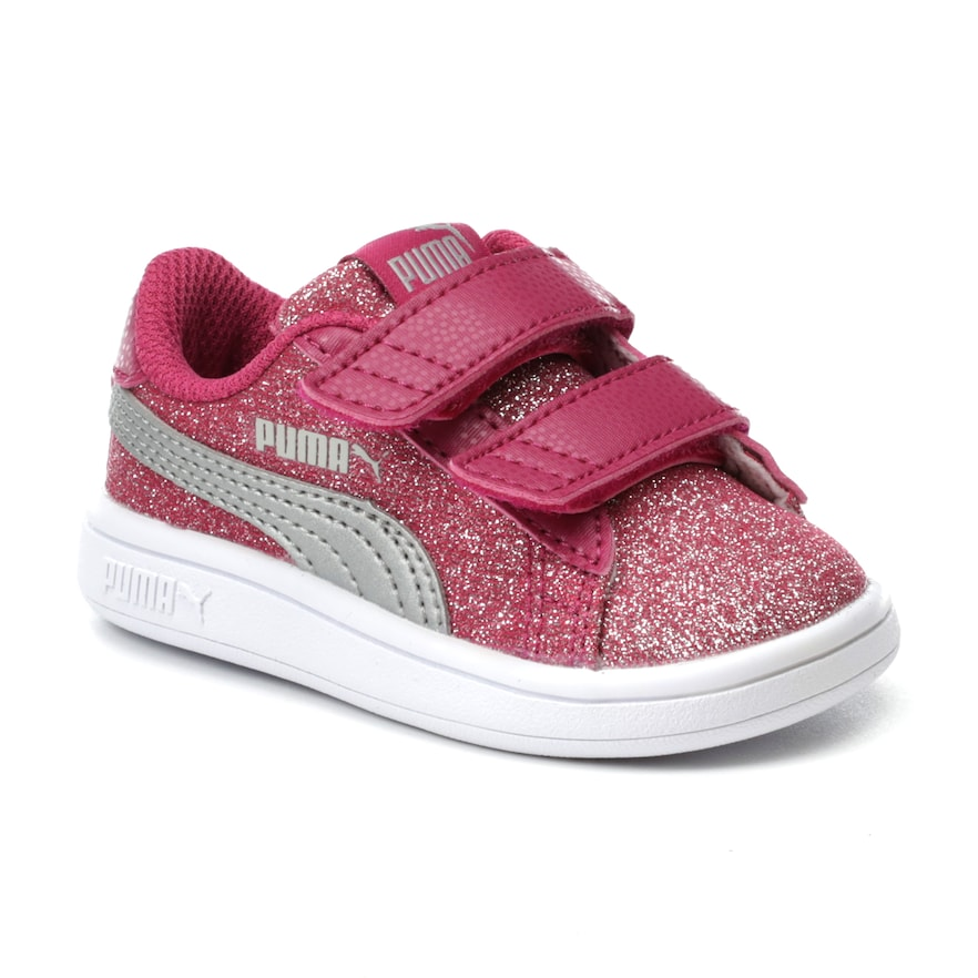 Buy Puma Kids' Smash V2 Glitz Glam Velcro Sneaker at Amazon.in