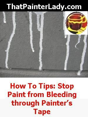 How To Stop Painter's Tape Bleed Under - & How To Fix It (if you didn't read these tips before painting stripes
