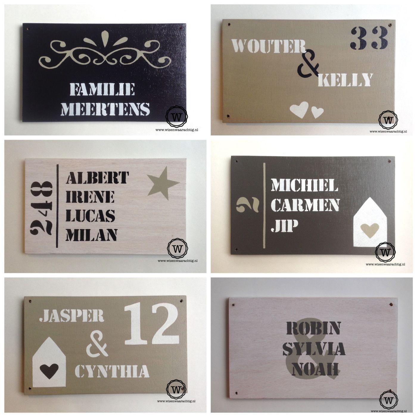 New Unieke naamborden voor bij de voordeur vind je natuurlijk bij Wis @YP43