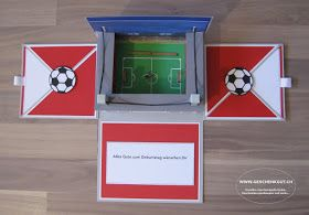 Geschenkbox Explosionsbox Uberraschungsbox Fussballstation