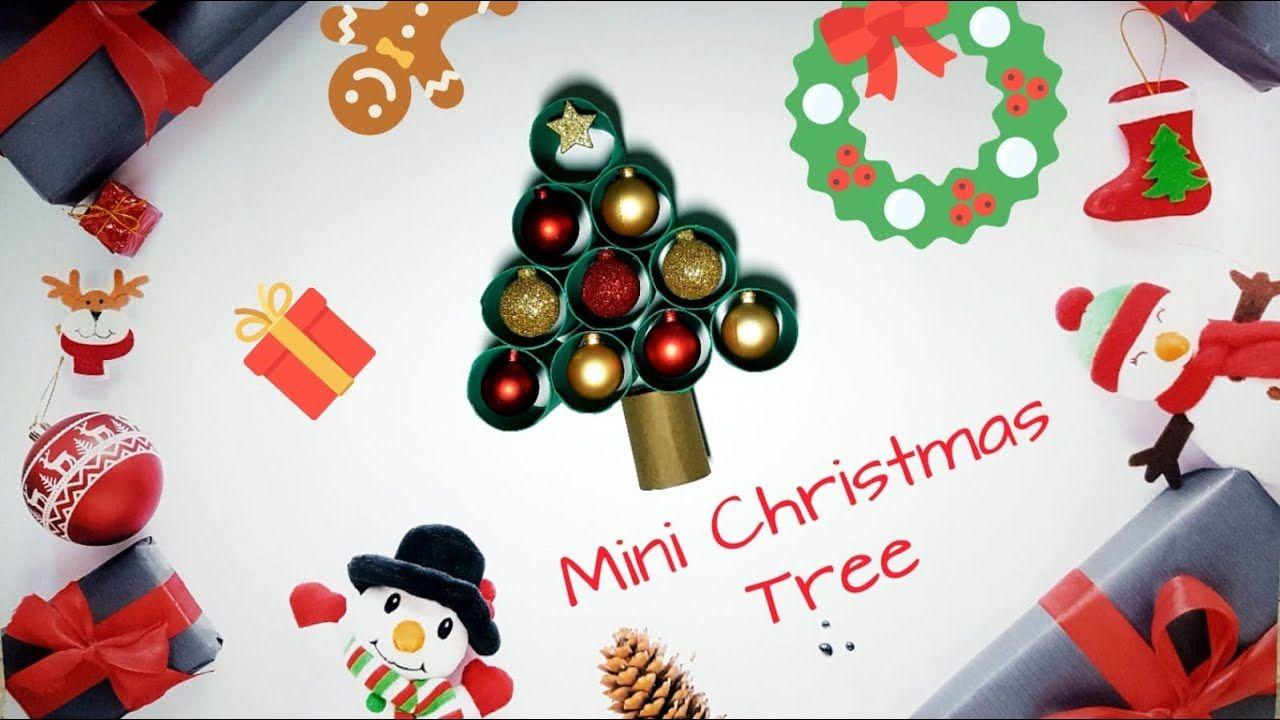 DIY Déco de Noël Mini Sapin de noël en rouleaux de
