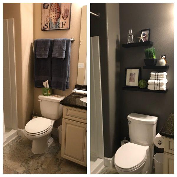 Before And After 1 2 Bath Guest Bath Decor Hobby Lobby
