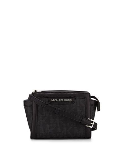 dab1cc541 V27HR MICHAEL Michael Kors Selma Mini Messenger Bag, Black | Gift Me ...