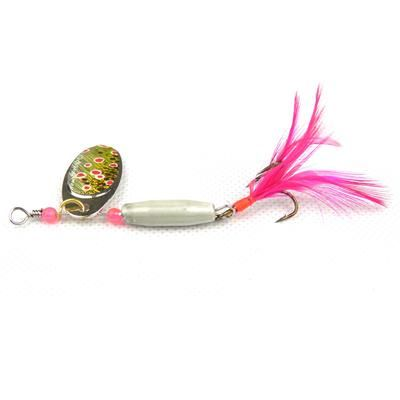 1PCS METAL SPOONS 8CM 7.8G 6COLORS ARTIFICIAL SPINNER BAIT LURE SPOON SEA BASS REINFORCED TREBLE HOOKS FEATHER