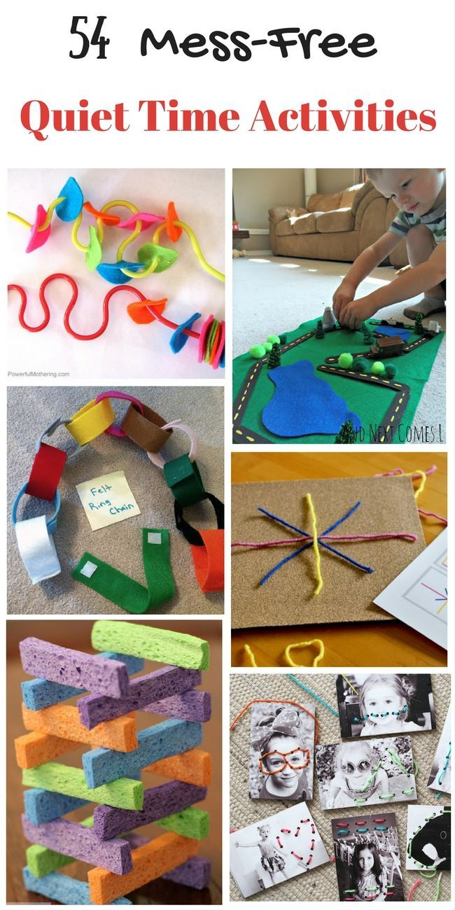 54 Mess Free Quiet Time Activities for 3 Year Olds Time