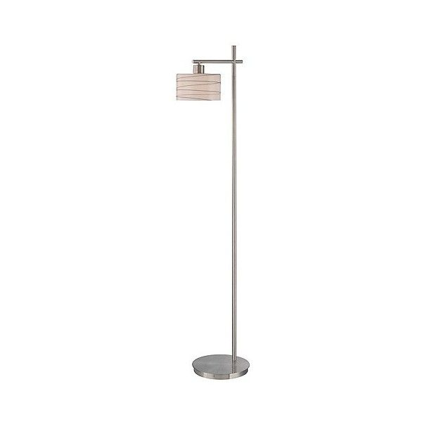 Lite Source Lenza 1-LT Floor Lamp ($188) ❤ liked on Polyvore featuring home, lighting, floor lamps, silver, column lights, glass shade lamp, lite source floor lamp, column floor lamp and colored lamps