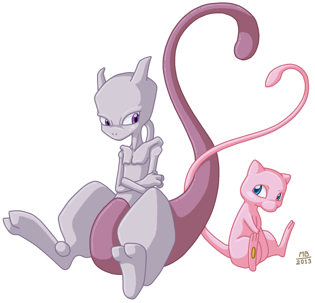 mew artwork | mew and mewtwo by elmo john fan art traditional art