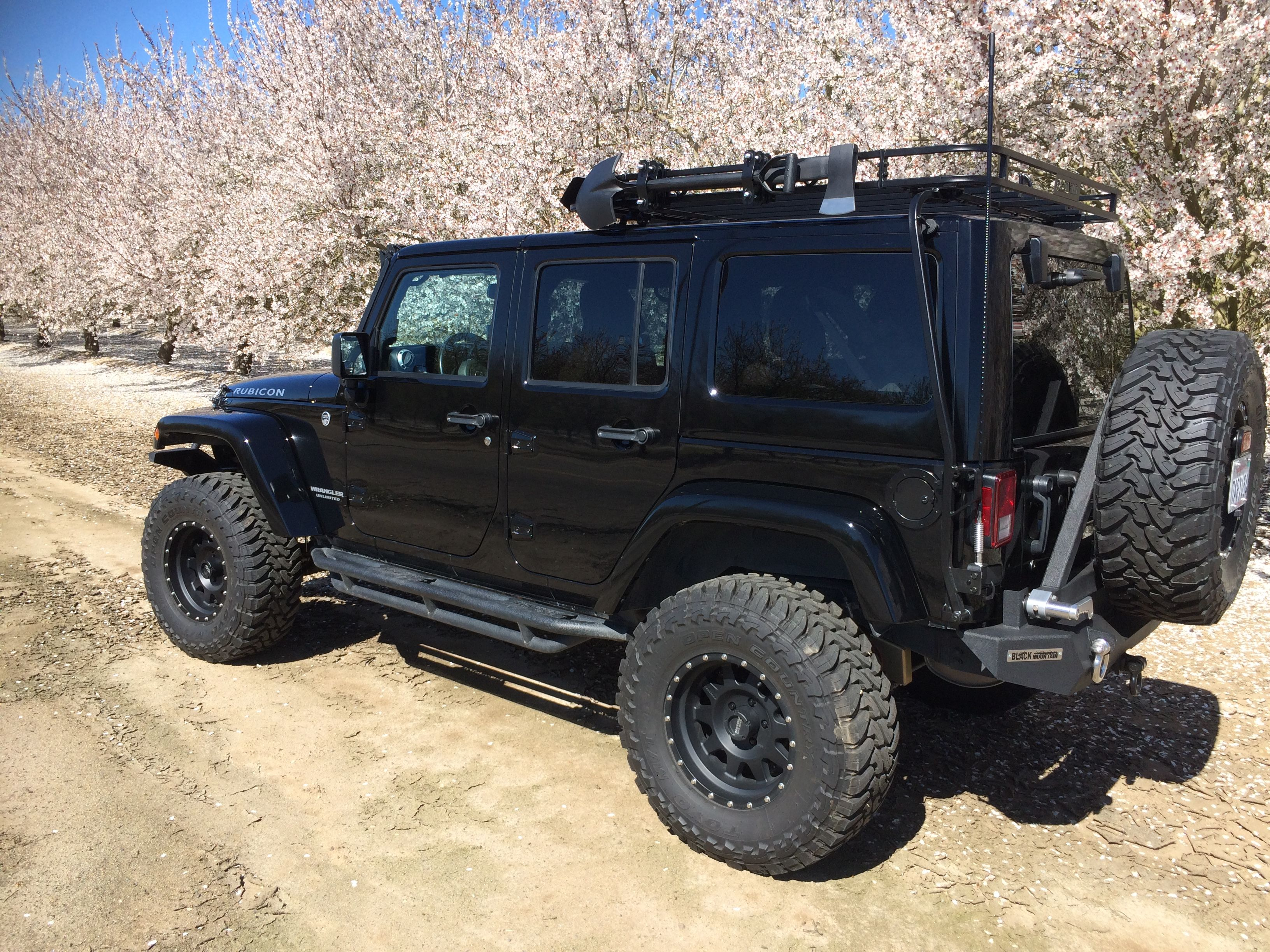 Jeep Wrangler Rubicon Black Mountain Bumpers Garvin Roof Rack