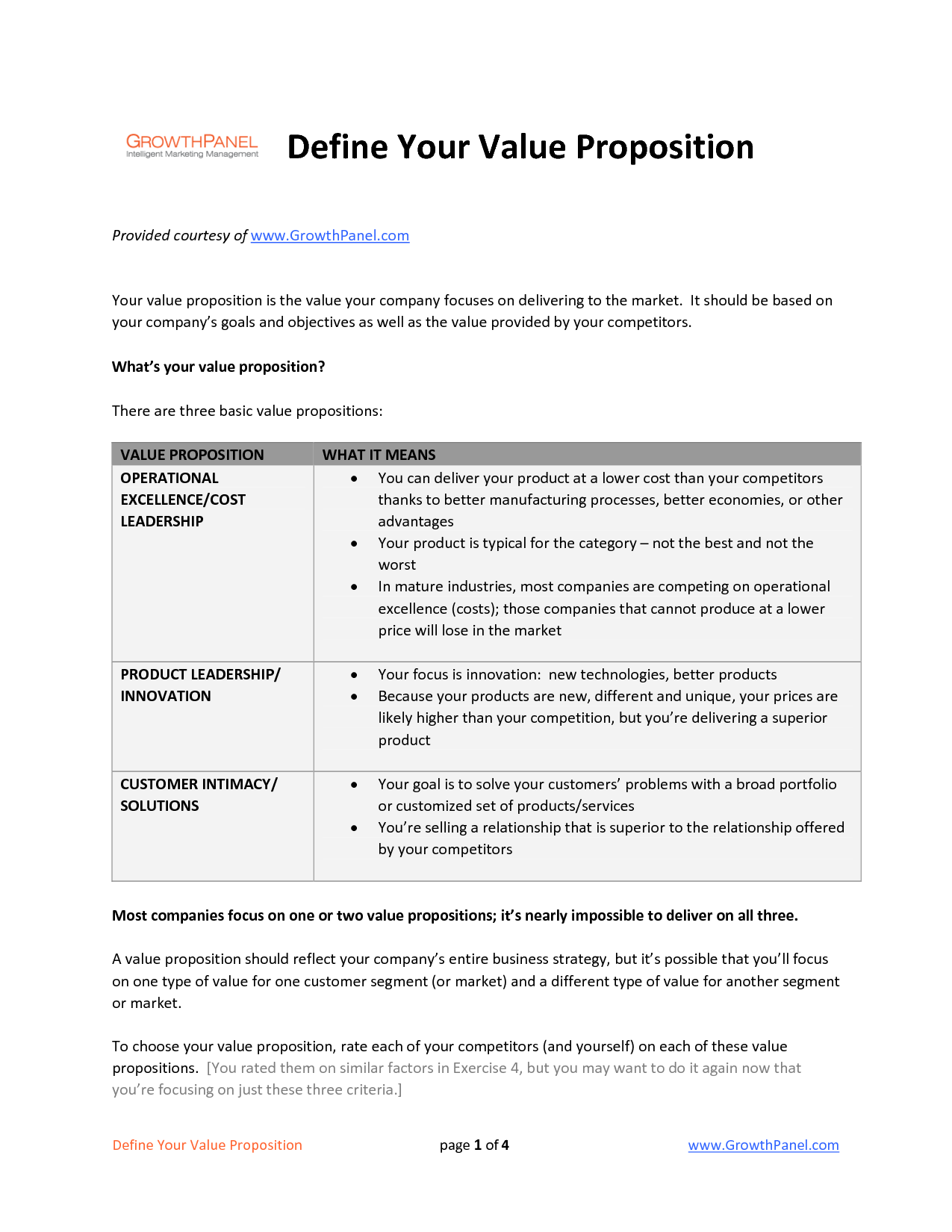 Value Proposition Template  Public Policy Work Jam