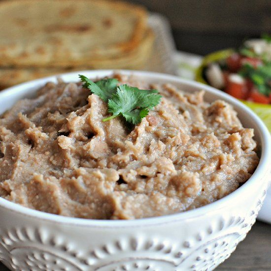 World's Best Crock Pot Refried Beans... these are easy, cheap, and taste absolutely delicious!