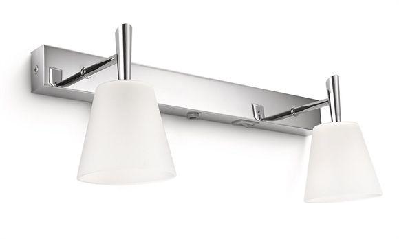 Lampade Per Bagno Da Specchio.Applique Due Luci Da Specchio Per Bagno Moderno Specchi Bagno