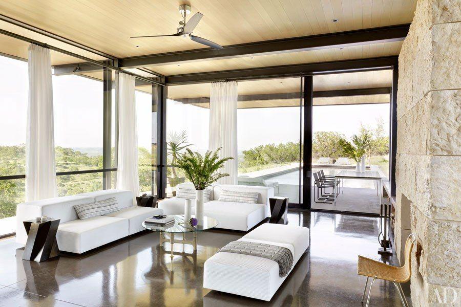 A Sprawling Texas Ranch | Pool houses, Lake flato, Modern ...