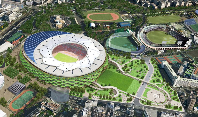 japan national stadium competition shortlisted projects