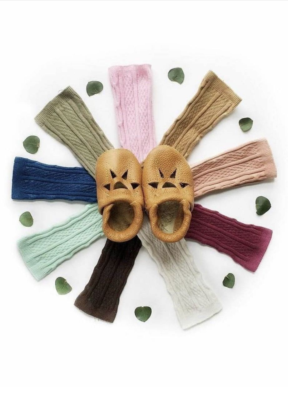 Love these sweet sandals and all the sock colors