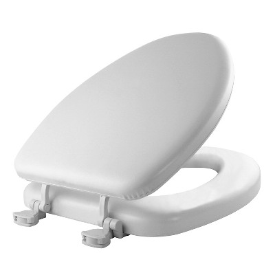 Elongated Cushioned Vinyl Soft Toilet Seat With Easy Clean