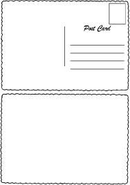 blank postcard template for kids girl scouts pinterest blank postcard template for kids maxwellsz