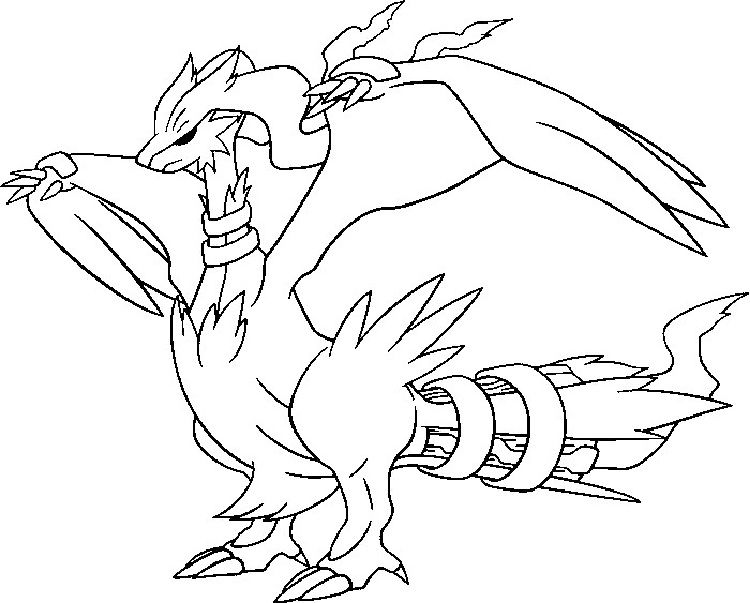 Pokemon Coloring Pages Reshiram With Images Pokemon Coloring Pages