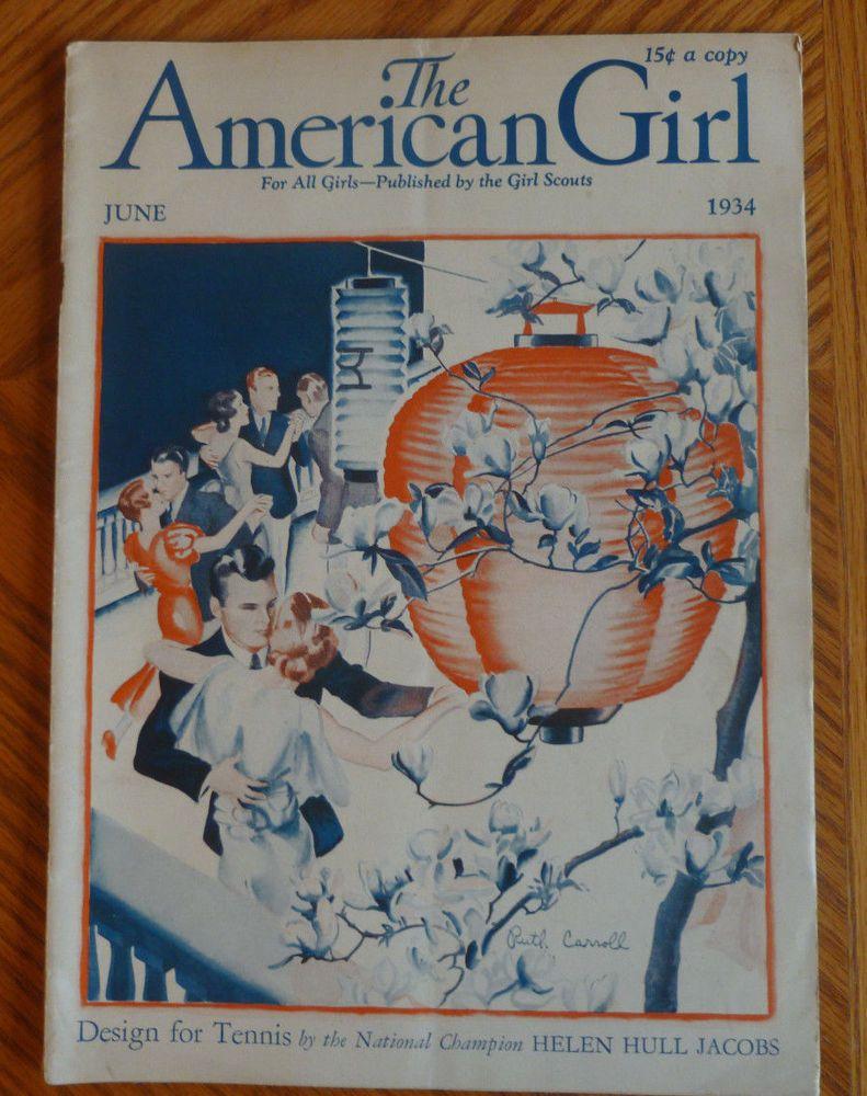 American Girl June 1934 Girl Scouts Magazine Helen Hull Jacobs