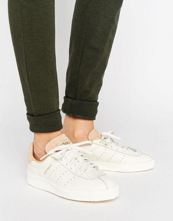adidas Originals Topanga Unisex Trainers In Cream Leather