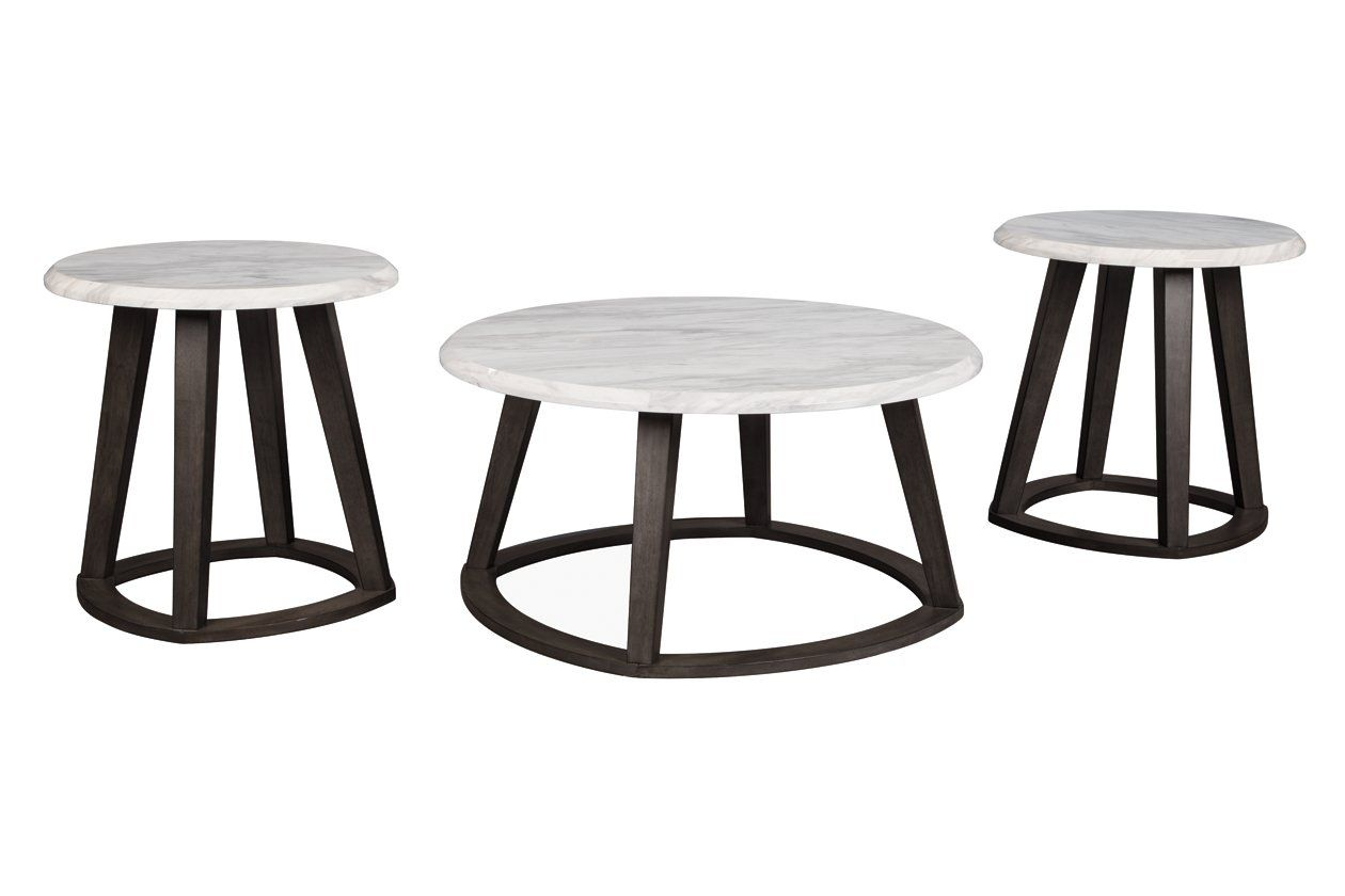 Luvoni Table Set Of 3 Ashley Furniture Homestore Round Coffee Table Sets Table Settings Round Coffee Table