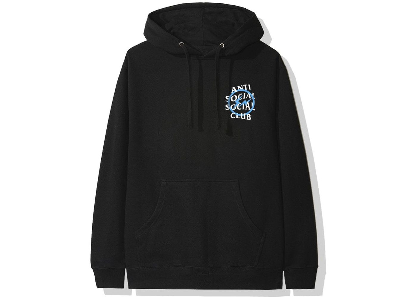 Anti Social Social Club X Fragment Blue Bolt Hoodie Fw19 Black In 2021 Hoodies Street Wear Anti Social Social Club