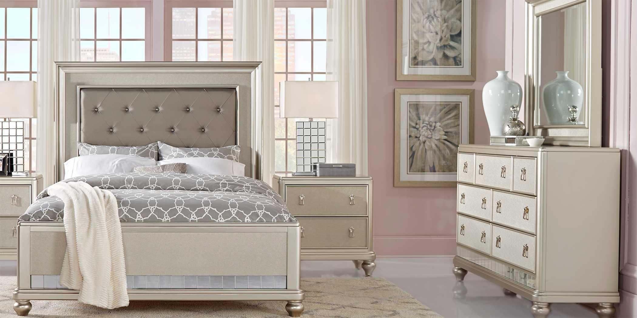 Sofia Vergara Paris Silver 7 Pc King Bedroom King Size Bedroom