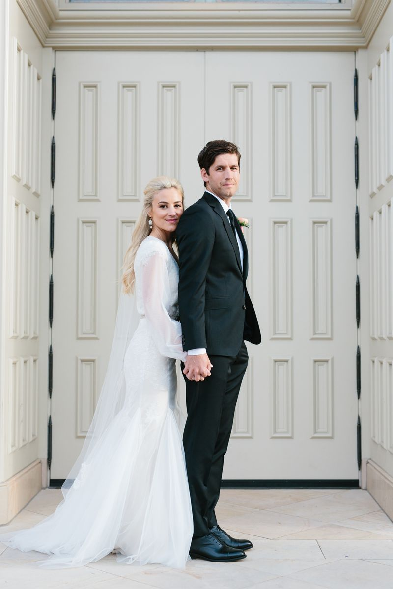 e53b4746db9 modest wedding dress with long bishop sleeves from alta moda. -- (modest  bridal gown)