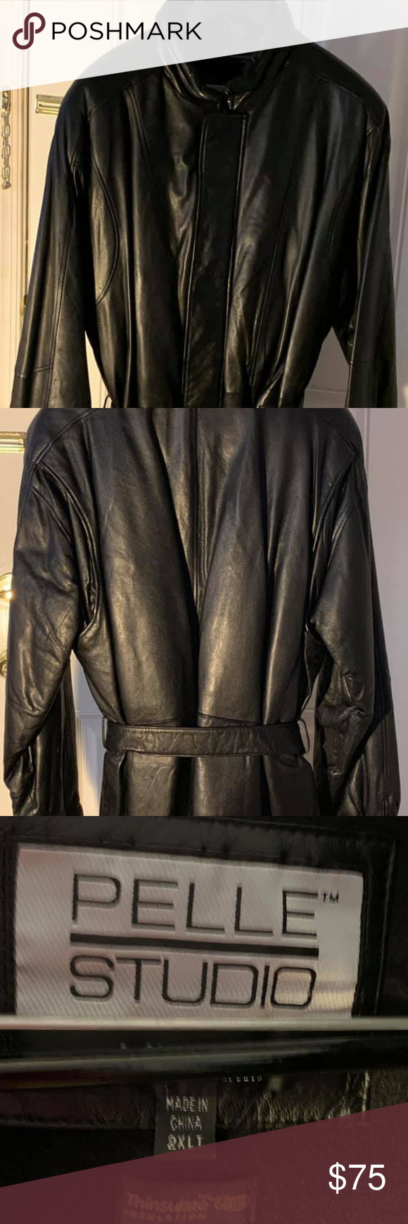 "Wilson's Leather ""Pelle Studio"" Jacket, Sz 2XLT Wilsons"
