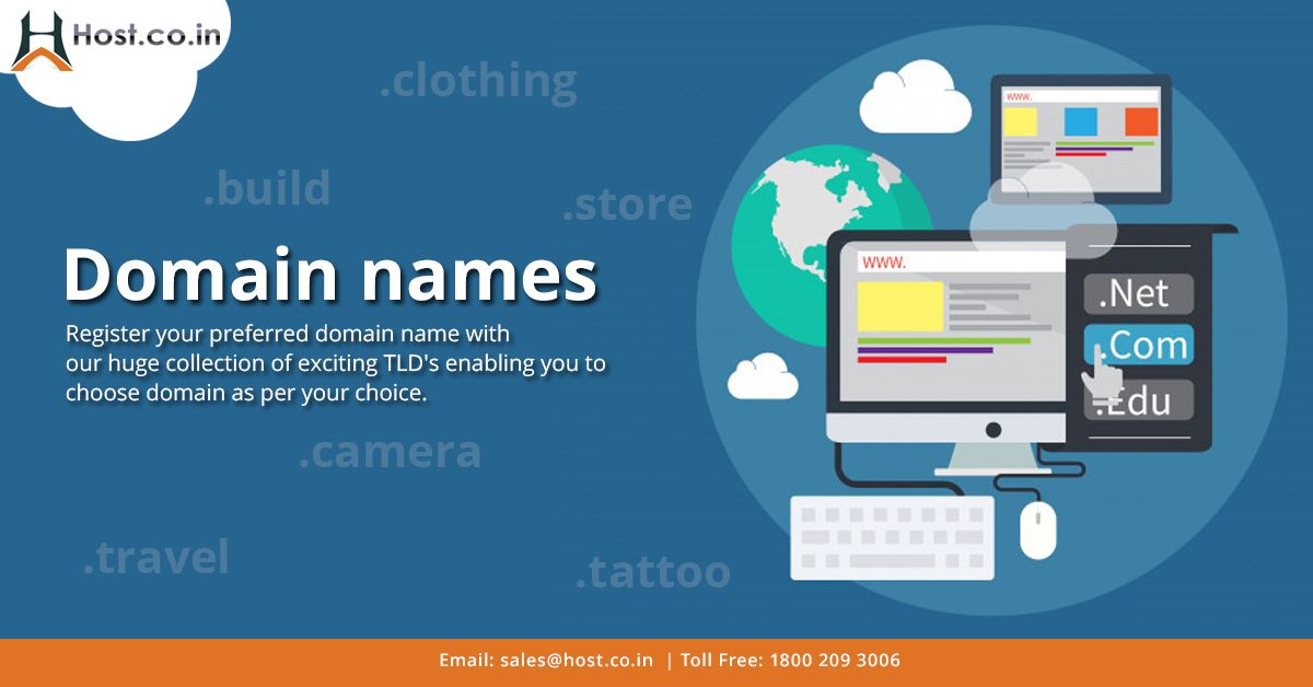 Register Your Preferred Domain Names And Other Domain Extensions At Best Prices At Host Co In Register A Domain Name Now And Domain Registration Domain Names