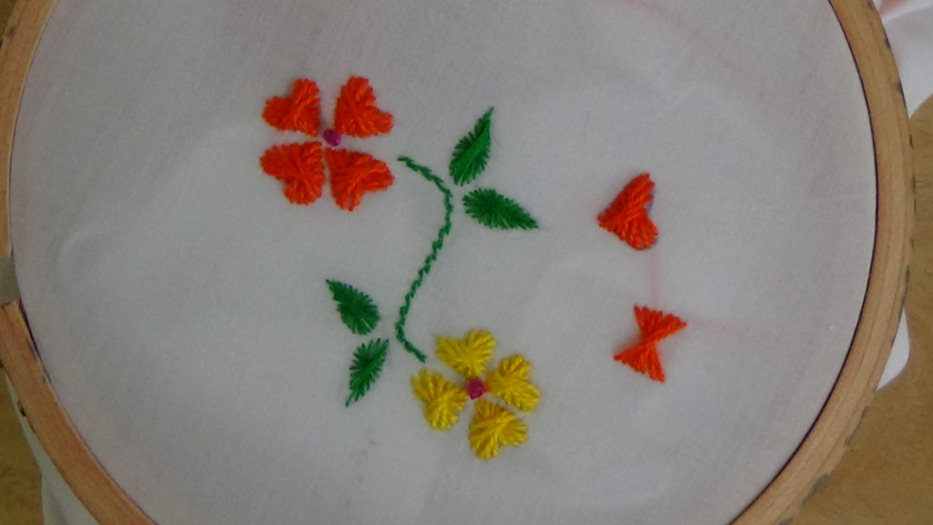 Hand Embroidery Butterfly Flower Stitch Hand Embroidery Tutorial Hand Embroidery Embroidery Tutorials
