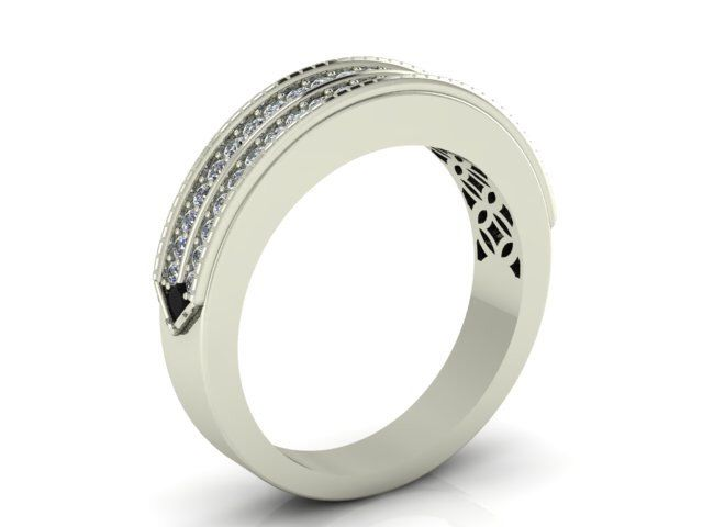 Natural High Quality Diamond Band, NATURAL White and Black Diamonds Wedding Band set in Solid 14k Gold by BridalRings on Etsy https://www.etsy.com/listing/207559973/natural-high-quality-diamond-band