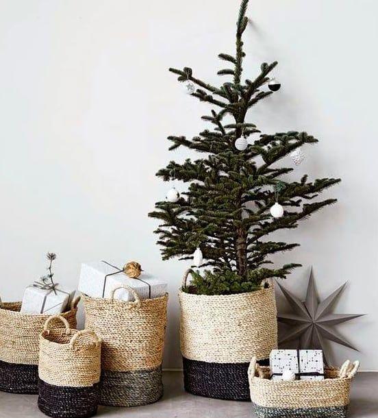 Doble O Triple Uso Ademas De Leneros Estas Cestas Pueden Servirnos Para Organizar Los Decoracion Navidena Ideas De Decoracion De Navidad Decoracion De Unas