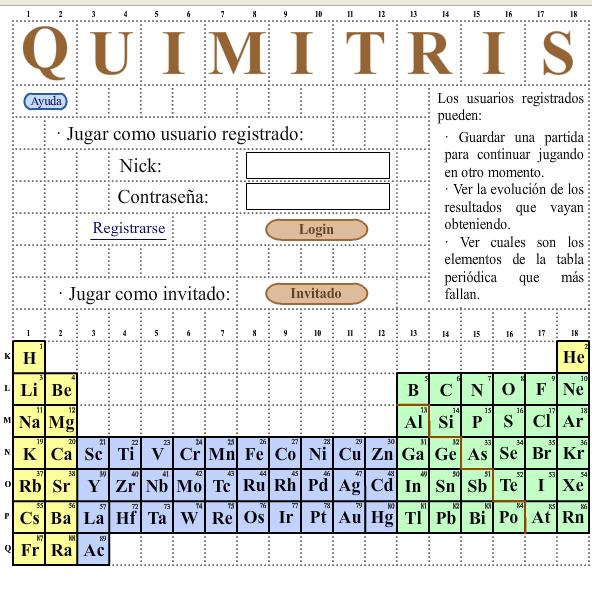 Quimitris es un juego basado en el tetris para el aprendizaje de la quimitris es un juego basado en el tetris para el aprendizaje de la tabla peridica de los elementos de forma entretenida urtaz Choice Image