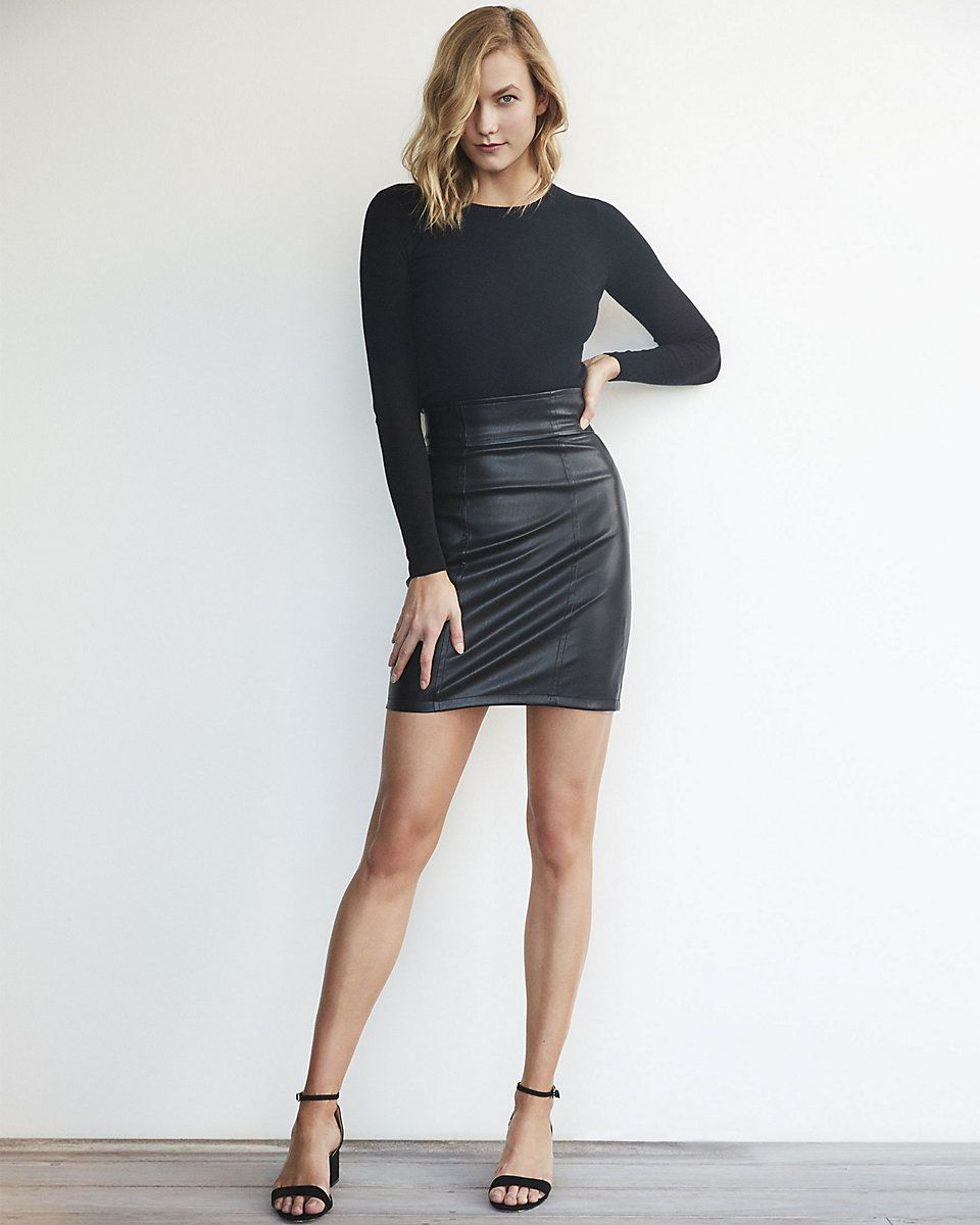Karlie Kloss x Express for 2017 Casual Style Lookbook | Leather ...