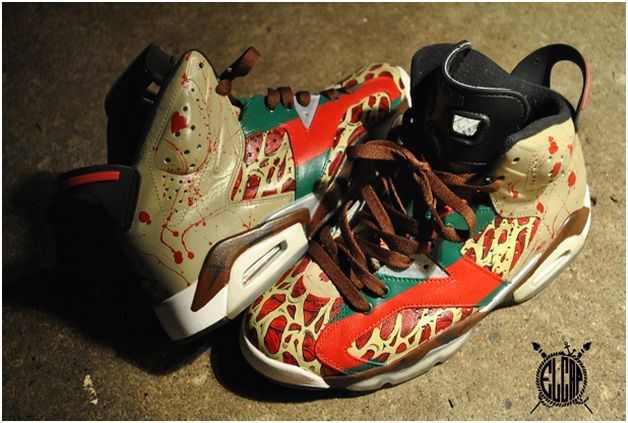 air jordan vi 6 freddy krueger customs 6b4d93d21170