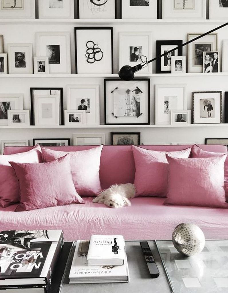Weiße Fotowand Pin By Erika Uribe On Home Pinterest Wohnzimmer Rosa Sofa And