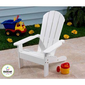 KidKraft - Adirondack Chair, White