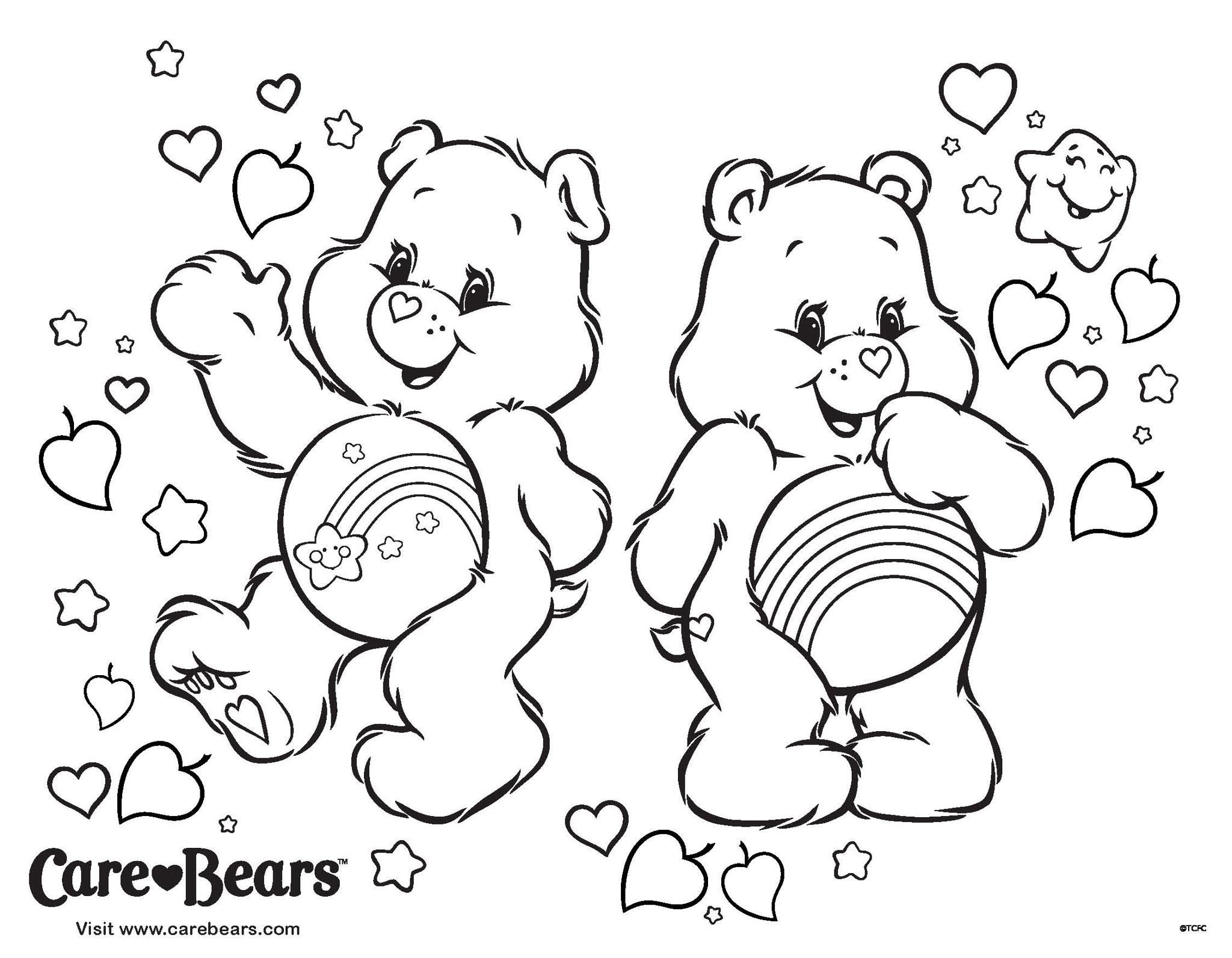 Care Bears Care Bears Coloring Pages Pinterest Malen