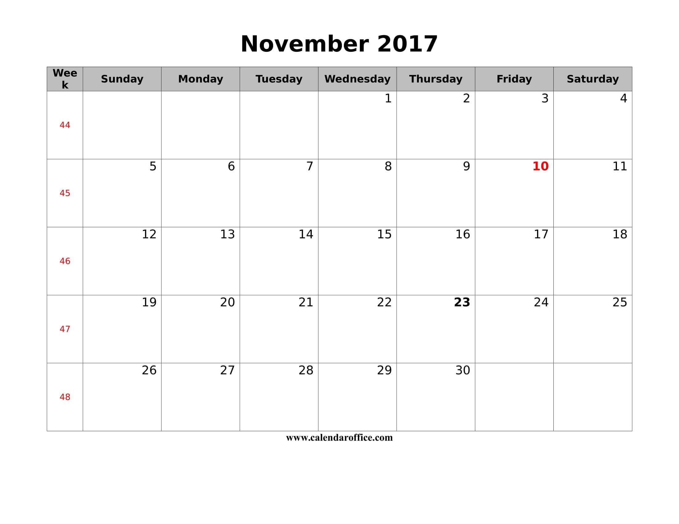 Blank Calendar 1